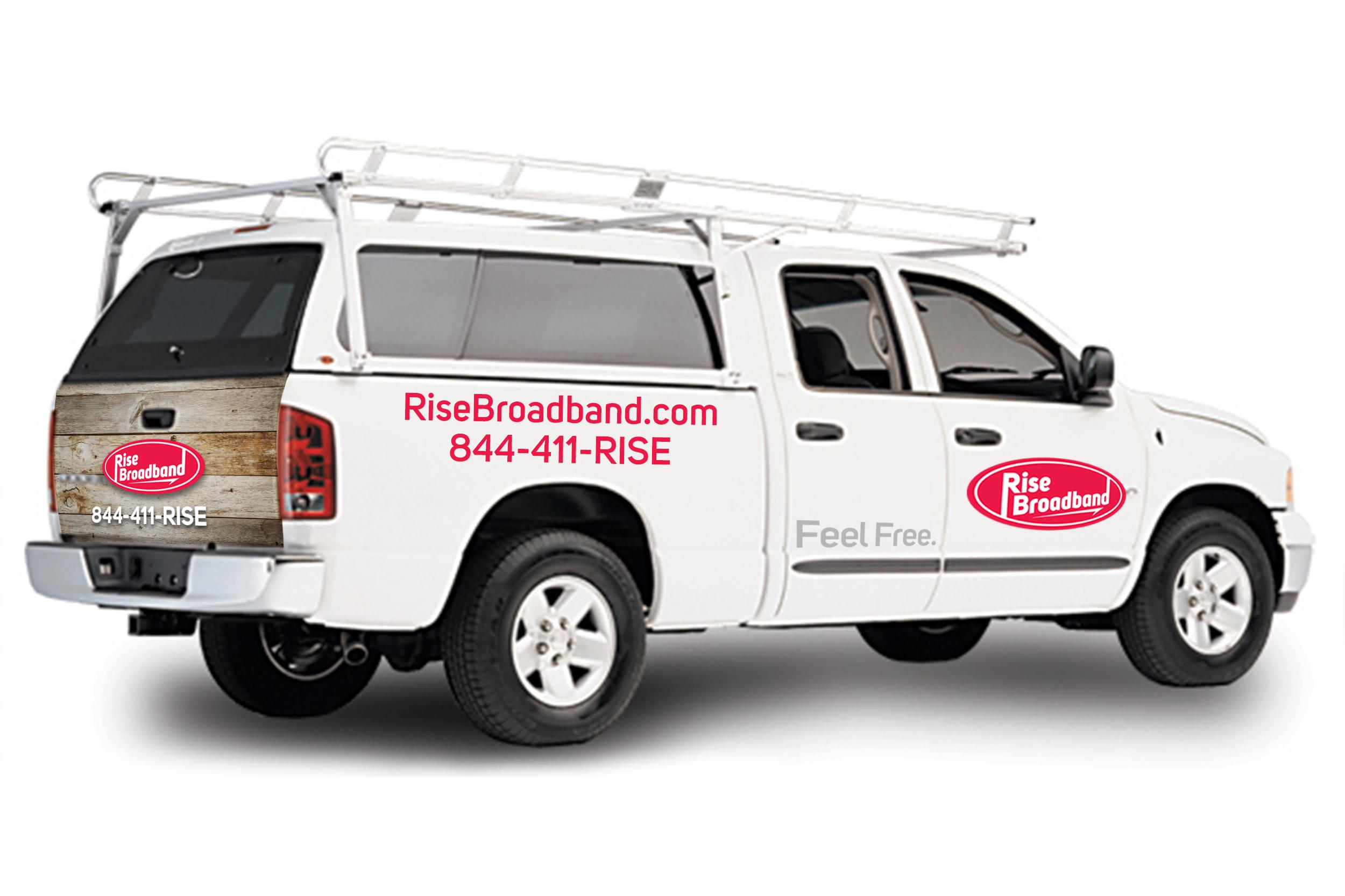 Rise Broadband's new tech / service vehicle. (Photo: Business Wire)