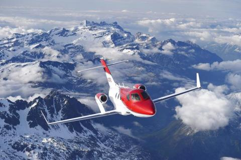 The HondaJet is making its first appearance in Europe as part of a world tour. (Photo: Business Wire ...