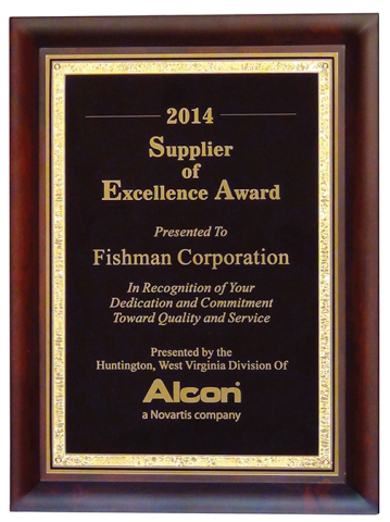 Fishman Corporation Named 2014 Alcon Supplier of Excellence (Photo: Business Wire)
