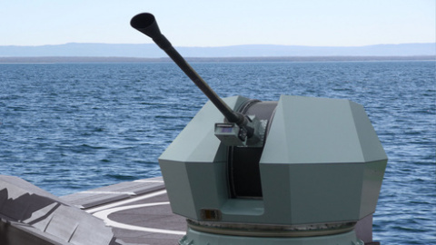 The low weight and compact Bofors 40 Mk4 gun system, with its high rate of fire and capability to sw ...
