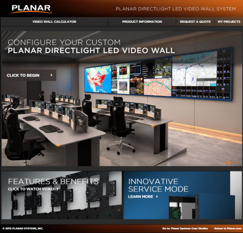 Planar DirectLight Video Wall Calculator (Photo: Business Wire)