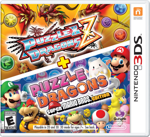 Puzzle & Dragons Z + Puzzle & Dragons Super Mario Bros. Edition Come Packaged Together on One Game Card (Photo: Business Wire)
