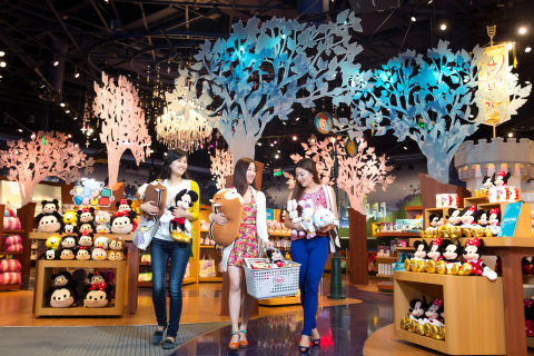 The Shanghai Disney Store features a unique product range and entertaining, immersive and innovative design elements. The store, located in the Lujiazui area of Pudong in Shanghai, opened its doors on Wednesday, May 20, 2015. It is the first Disney Store in China and largest in the world. Photo courtesy Disney Store China.