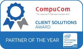 CompuCom was named Intel(R) Technology Provider's 2015 Client Solutions Partner of the Year (Graphic: Business Wire)