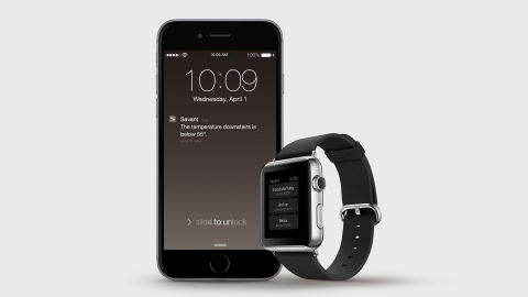 The Savant App On Apple Watch Makes It Easier Than Ever To Access Your Home From Anywhere (Photo: Business Wire).
