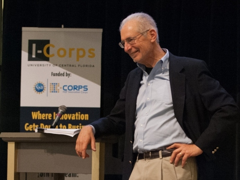 Jerry Engel - a leader in the Lean Startup movement - speaking at the inaugural UCF I-Corps kickoff event in Orlando (Photo: Business Wire)