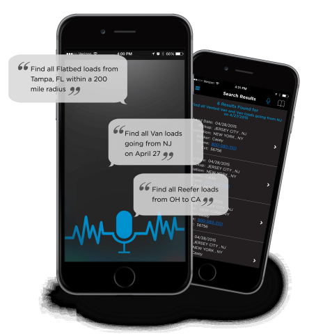Examples of voice search commands on TQL's new Carrier Dashboard 4.1 mobile app (Photo: Business Wire)