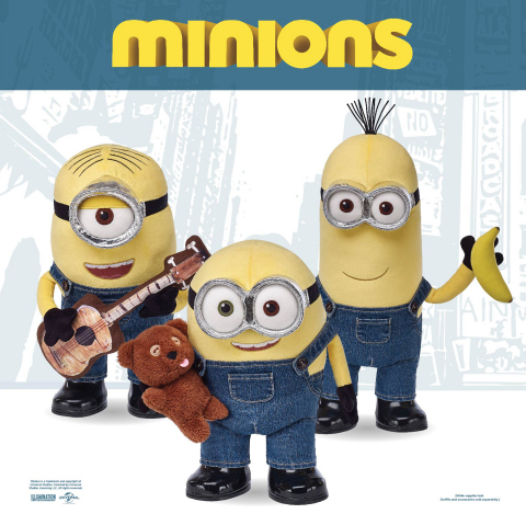 Build-A-Bear Workshop debuts customizable Minions collection in stores, May 22, 2015, based on Unive