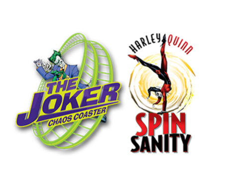 THE JOKER Chaos Coaster and Harley Quinn Spinsanity are both now open at Six Flags Over Georgia near Atlanta. (Graphic: Six Flags Over Georgia)