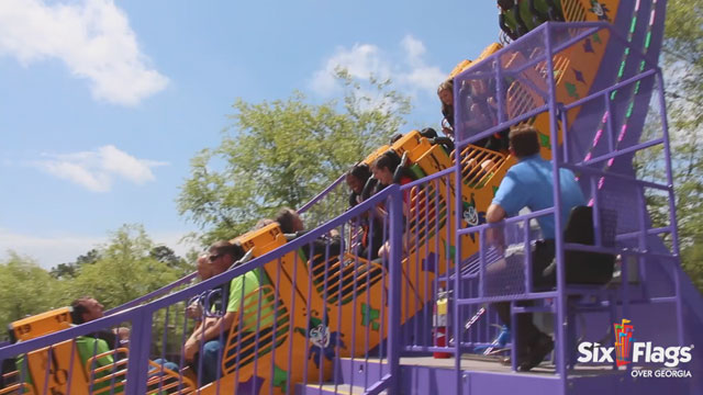 Chaos, mischief and mayhem is underway, as Six Flags Over Georgia - The Thrill Capital of the South - debuts THE JOKER Chaos Coaster and Harley Quinn Spinsanity, Gotham City's newest challenges.