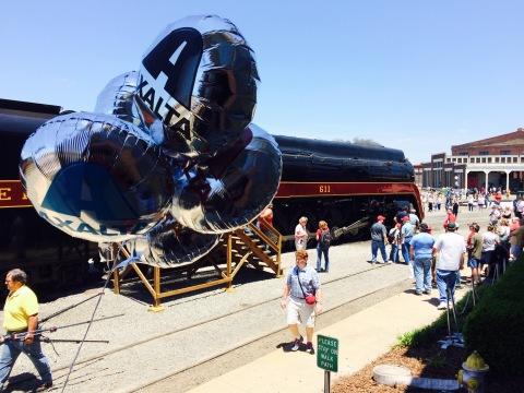 Norfolk & Western Class J #611 Steam Locomotive coated with Axalta Imron Elite makes debut at celebr ...