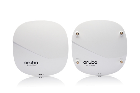 The ultra-fast Aruba 320 series 802.11ac Wave 2 APs offer the highest performance in high-density en