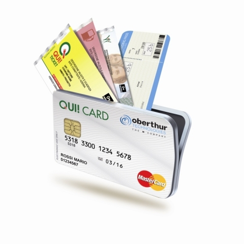 OT selected by QUI! Group to dematerialize luncheon vouchers in smart payment cards in Italy. (Photo ...