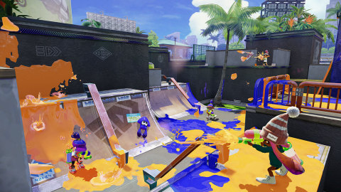Splatter enemies and claim your turf as ink-spraying, squid-like Inklings in Nintendo's new mess fes ...