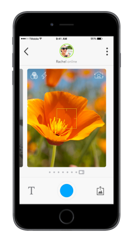 Glide gives users more control over how their videos appear with a new set of camera features that will make video capture more fun and expressive, including focus, zoom and flash, as well as new filters. (Graphic: Business Wire)