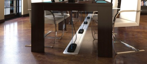Cable Management Solution for Classroom Technology and Power Access by Connectrac On-Floor Wireways. (Photo: Business Wire)