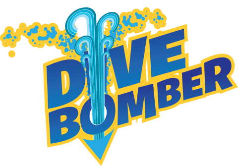 Dive Bomber at Six Flags White Water Logo