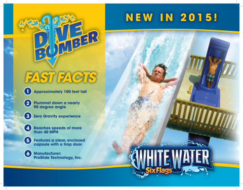Dive Bomber at Six Flags White Water Fact Sheet (Graphic: Six Flags White Water)