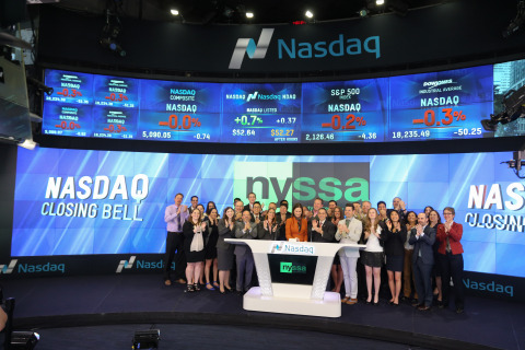 New York Society of Security Analysts (NYSSA) rang the closing bell at NASDAQ (Photo: Business Wire)