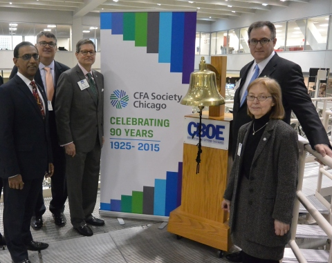 CFA Society Chicago rang the closing bell at the Chicago Board Options Exchange. (Photo: Business Wire)
