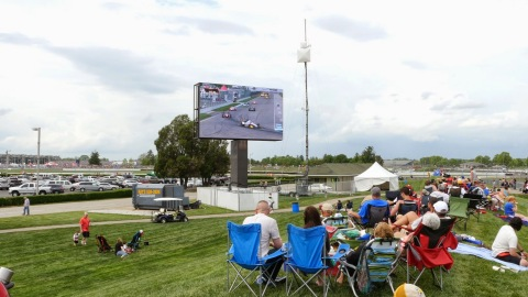 Panasonic's newly installed LED video boards enhance the Indy fan experience (Photo: Business Wire)