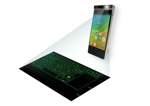 Magic Cast概念智能手机将投影模块与虚拟键盘相组合(照片:美国商业资讯)