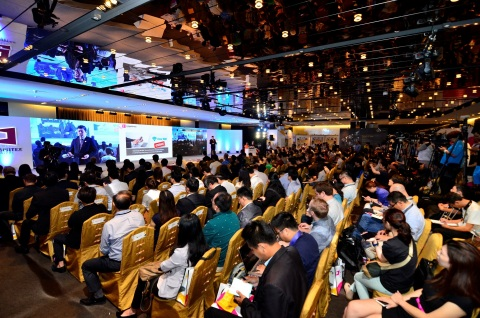 Walter Yeh, Executive Vice President of TAITRA, reveals the exhibition themes for COMPUTEX 2015 (Pho ...