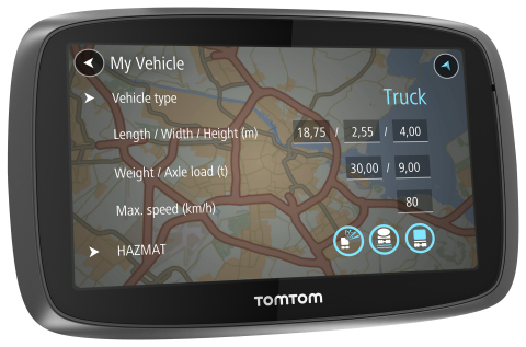TomTom Launches the TRUCKER 6000, get the most out of driving time, through truck-specific routing and world-class TomTom Traffic information. (Photo: Business Wire)