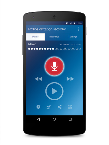 Dictation recorder app (Photo: Business Wire)