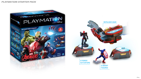 Image of Playmation Marvel's Avengers Starter Pack, which will be available at mass and specialty retailers, select Disney Stores and disneystore.com in the US and Canada starting October 2015. Playmation, the next step in the evolution of play, was unveiled by Disney Consumer Products for the first time on Tuesday, June 2, 2015. (Photo: Business Wire)