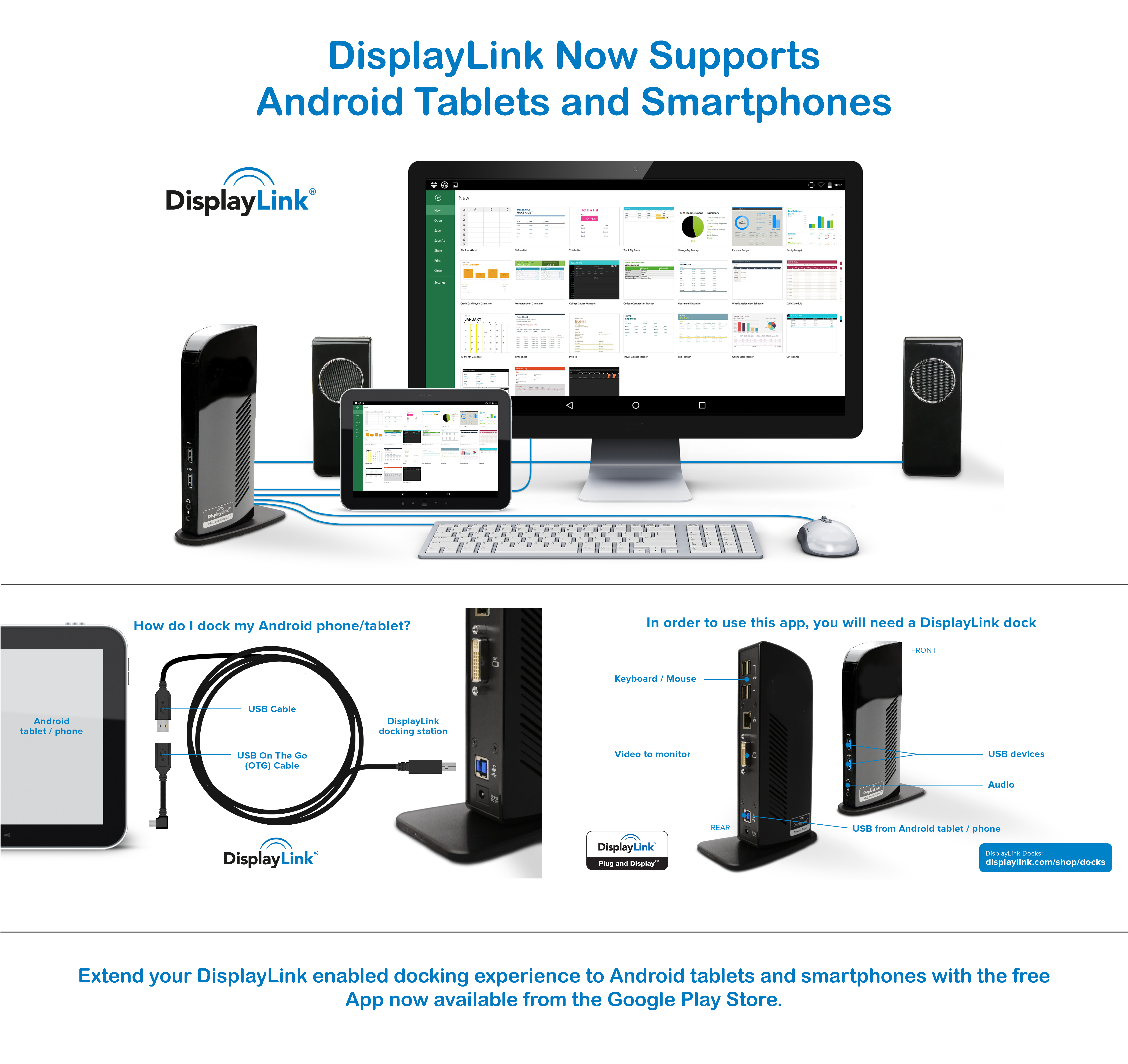 Displaylink Launches New Android App On The Google Play Store Wiring Of Usb Mouse Free Download Diagrams Pictures Enabling Display Connectivity To Any Enabled Product Business Wire
