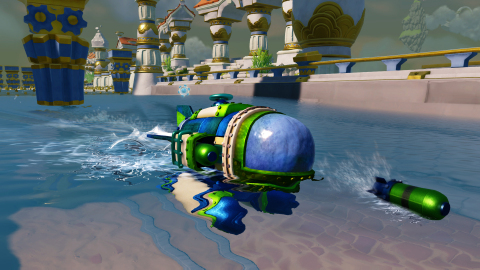 Dive Bomber -- just one of the many SEA vehicles that Portal Masters can bring to life in Skylanders SuperChargers on Sept. 20 -- is ready for some underwater gameplay action. (Graphic: Business Wire)