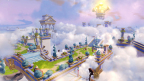 Portal Masters can now explore Cloud Kingdom using LAND, SEA and SKY vehicles in Skylanders SuperChargers on Sept. 20. (Graphic: Business Wire)