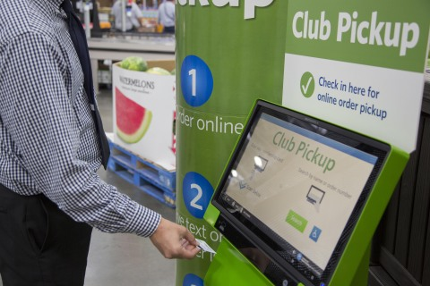 Members try improved Club Pickup from Sam's Club, the only U.S. warehouse retailer to provide pick u