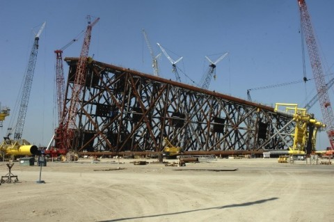 Image Caption: McDermott completed the Ayatsil-B eight-leg jacket and deck from its Altamira fabrica ...