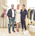 Vincent Payen, head of consumer selling for eBay Marketplaces, Marcelle Parish, head of fashion for eBay Marketplaces, and Garance Dore at the eBay Closet Cleanse event, celebrating the expansion of eBay Valet into apparel (Photo: Business Wire)