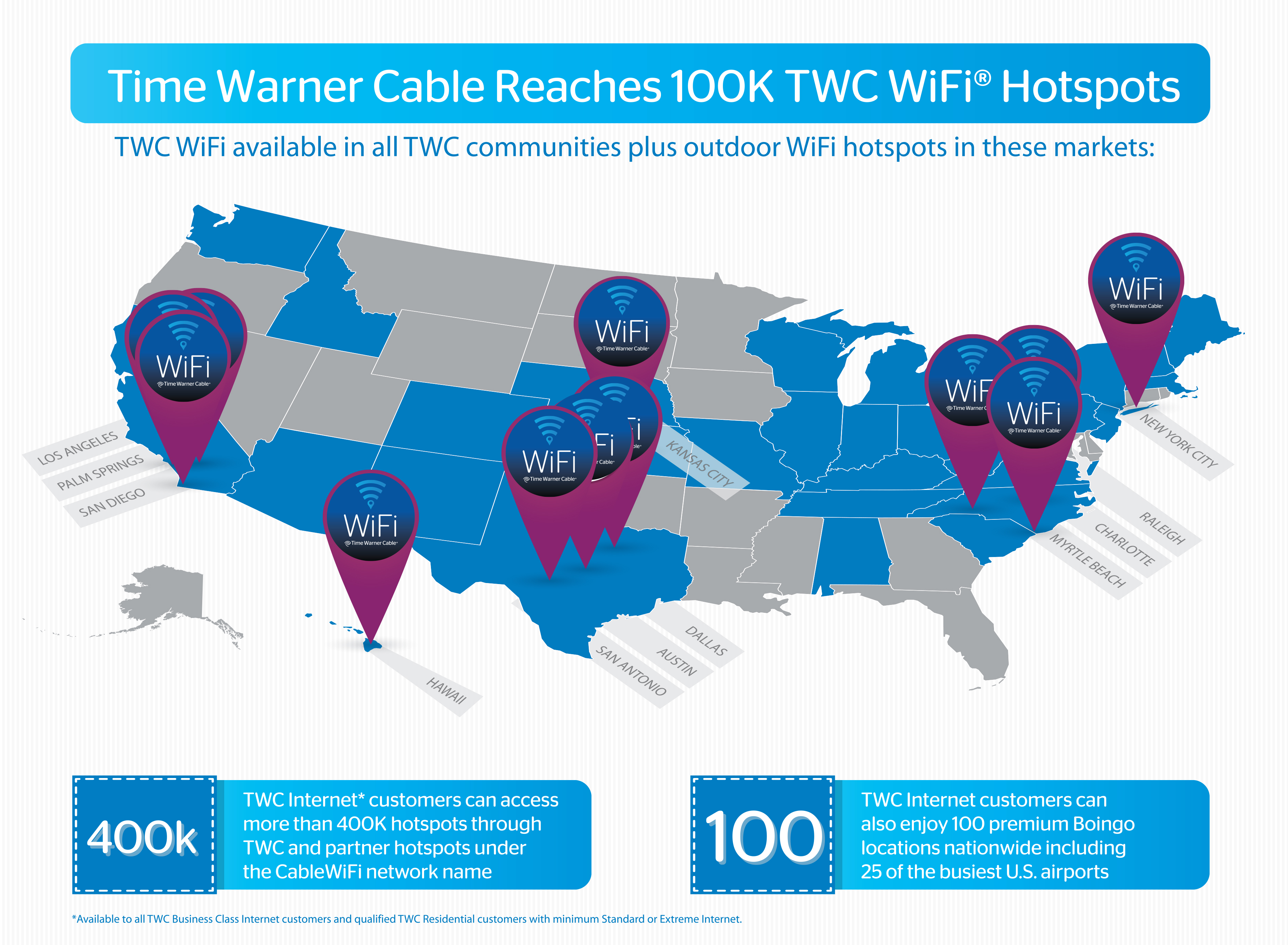 Twc Time Warner Cable Nc: Time Warner Cable WiFi Network Grows to More Than 100K TWC WiFi rh:businesswire.com,Design