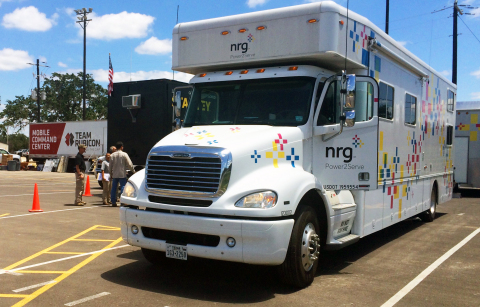 NRG's mobile power support vehicle, Power2Serve, has deployed to Wimberley, TX and provides power an ...