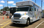 NRG's mobile power support vehicle, Power2Serve, has deployed to Wimberley, TX and provides power and hands-on support to aid people who have been affected by recent flooding. (Photo: Business Wire)