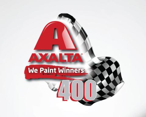 "Axalta ""We Paint Winners 400"" logo"