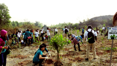 Vietnam: Tree planting activities in a National Wildlife Reserve in Ninh Bình Province. (Photo: Business Wire)