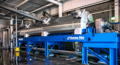 Rogers Arkansas has used the Therma-Flite BIO-SCRU(R) biosolids dryer to eliminate transportation and landfill costs and is able to contract with a company who pays them to haul it away for land applications. (Photo: Business Wire)