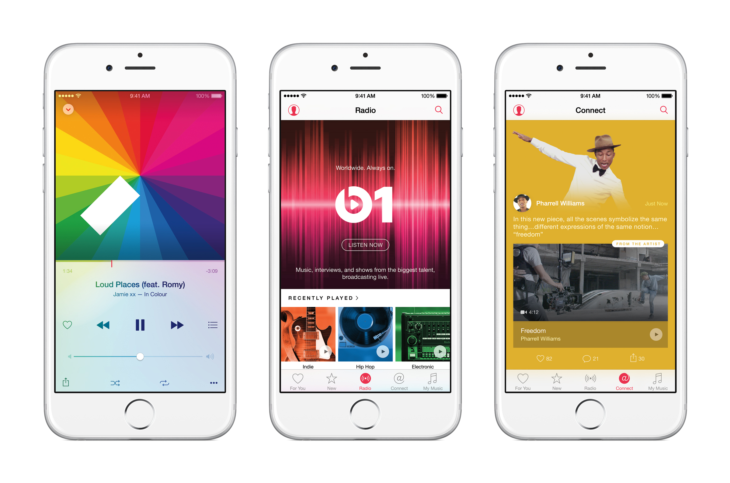 Apple Music debuts June 30 — all the ways you love music, all in one place. (Photo: Business Wire)