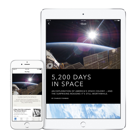 Apple announces the News app for iPhone and iPad, delivering news in a beautiful and uncluttered format. (Photo: Business Wire)
