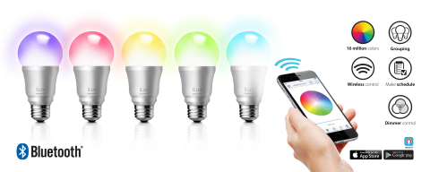 iLuv Rainbow7: Smartphone-Controlled Multicolor LED Light Bulb (Graphic: Business Wire)