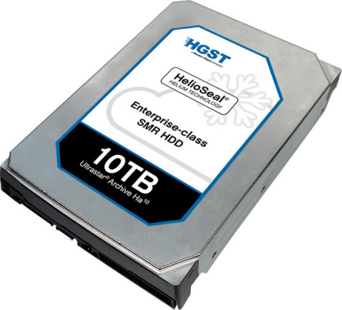 Ultrastar Archive Ha10 - 10TB capacity, Host-managed SMR, Helium HDD (Photo: Business Wire)