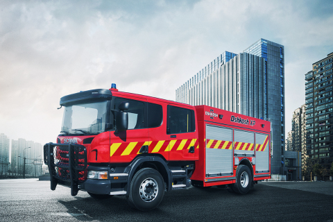 Oshkosh is showcasing the new Oshkosh® XP fire apparatus at Interschutz 2015 on June 8-13 at Messegelände, D-Hannover in Hannover, Germany. The new vehicle will be displayed at the Oshkosh Corporation booth, located at open-air site (FG) Stand M06/3). (Photo: Business Wire)