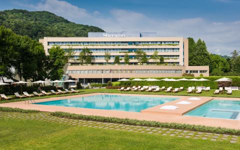Starwood Hotels & Resorts, Sheraton Lake Como Hotel, Facade (Photo: Business Wire)