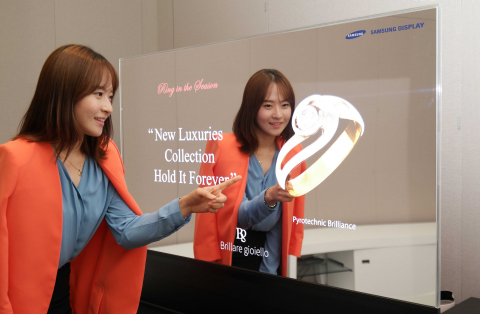 Samsung Display 55-inch Mirror OLED display (Photo: Business Wire)