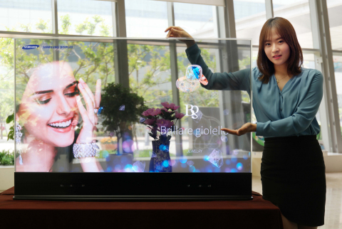 Samsung Display 55-inch Transparent OLED display (Photo: Business Wire)